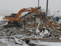Demolition of Delta High School Football Stadium